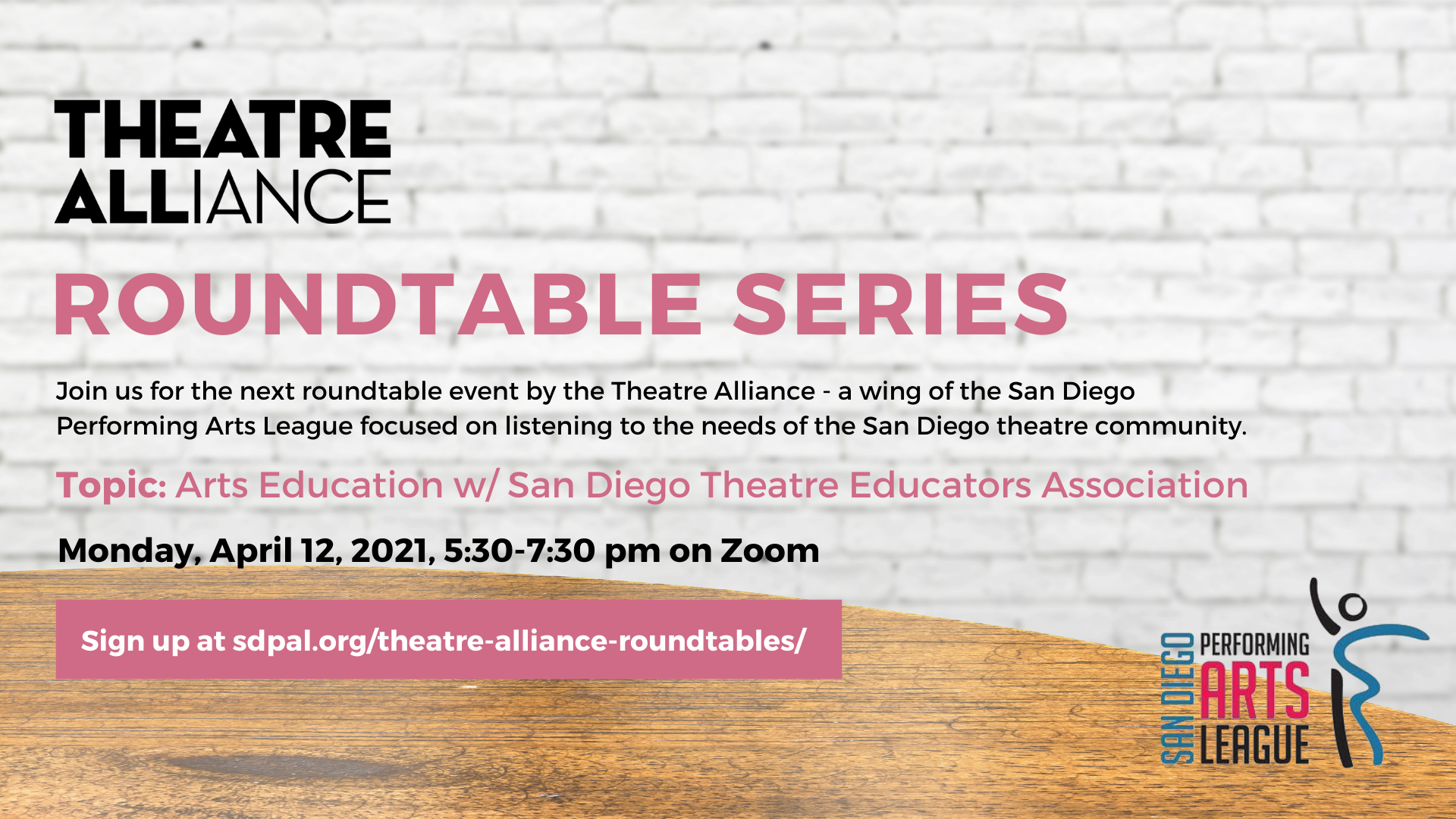 Arts Education Roundtable - April 12, 2021 5:30-730pm - SIGNUP COMING SOON