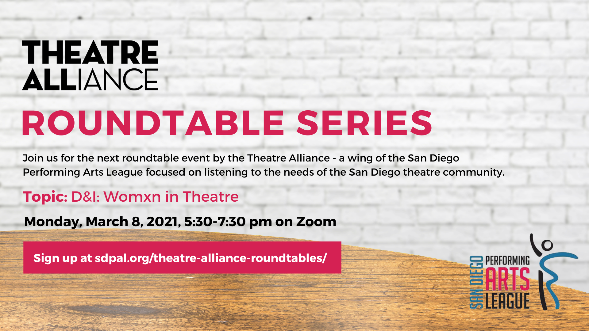 Womxn in Theatre Roundtable - March 8, 2021 5:30-7:30 on Zoom