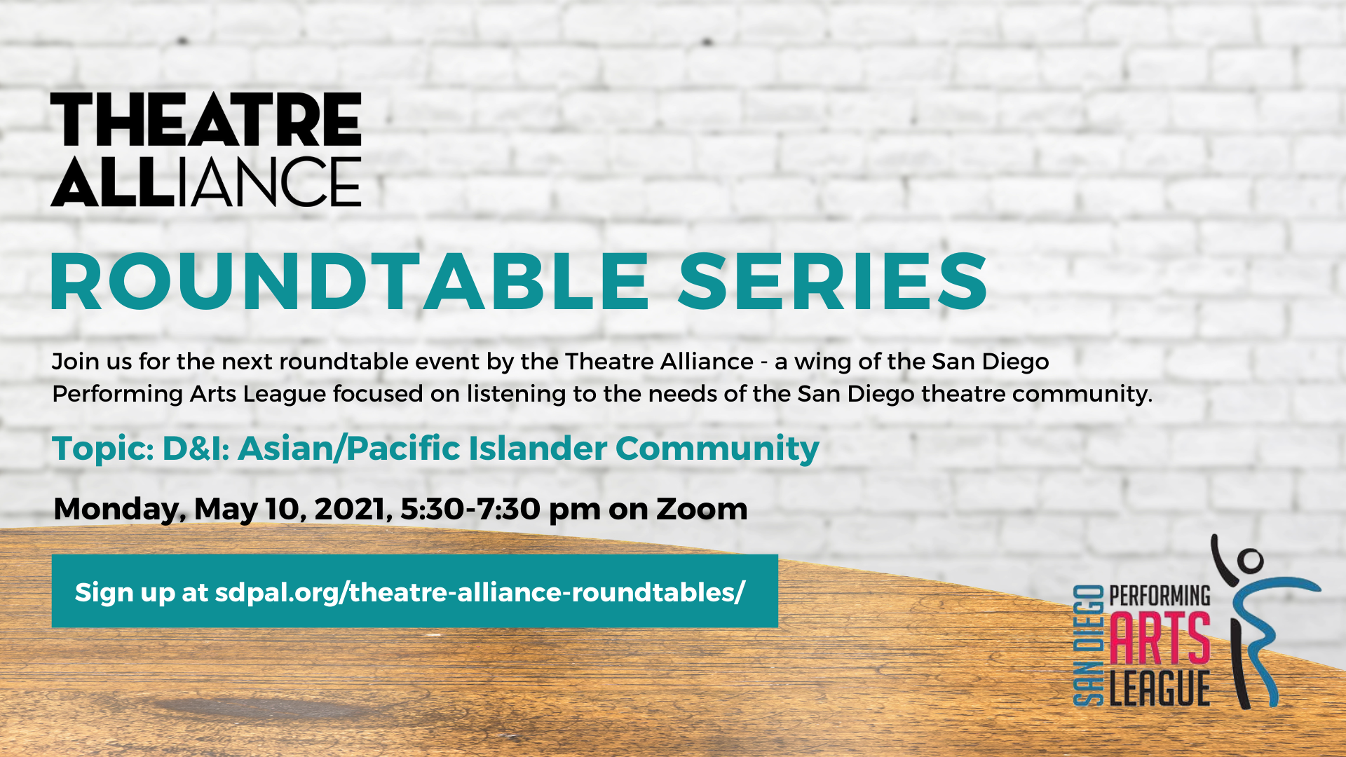 Asian/Pacific Islanders in Theatre Roundtable - May 10, 2021 5:30-730pm - SIGNUP COMING SOON